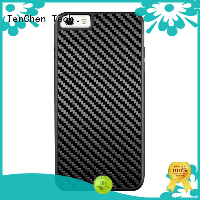 carbon tpu material phone case cord ring for retail TenChen Tech