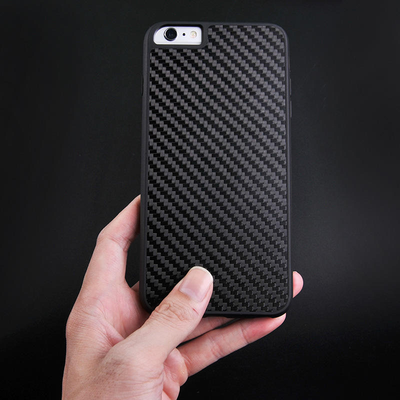 Luxury Black Real Carbon Fiber Case For Iphone CB0001