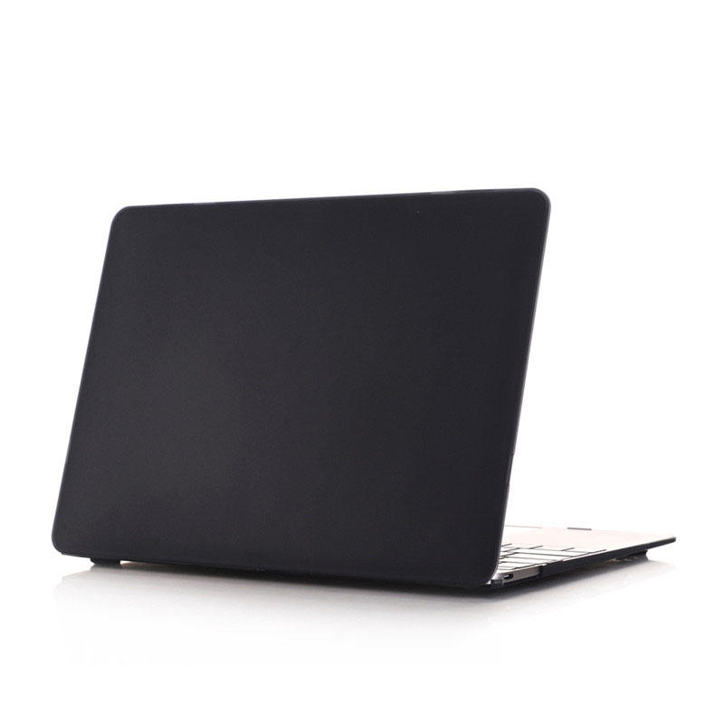 TENCHEN Laptop Protective Matte Black hard shell PC Case For Macbook 12 MC0121