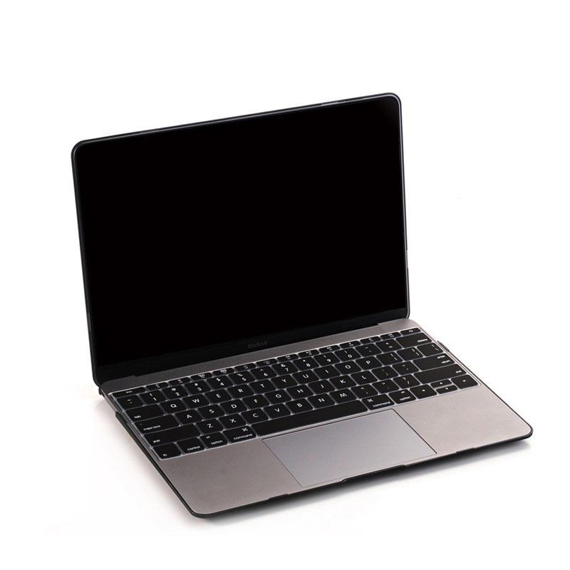 TenChen Tech-Laptop Protective Matte Black hard shell PC Case For Macbook 12 MC0121