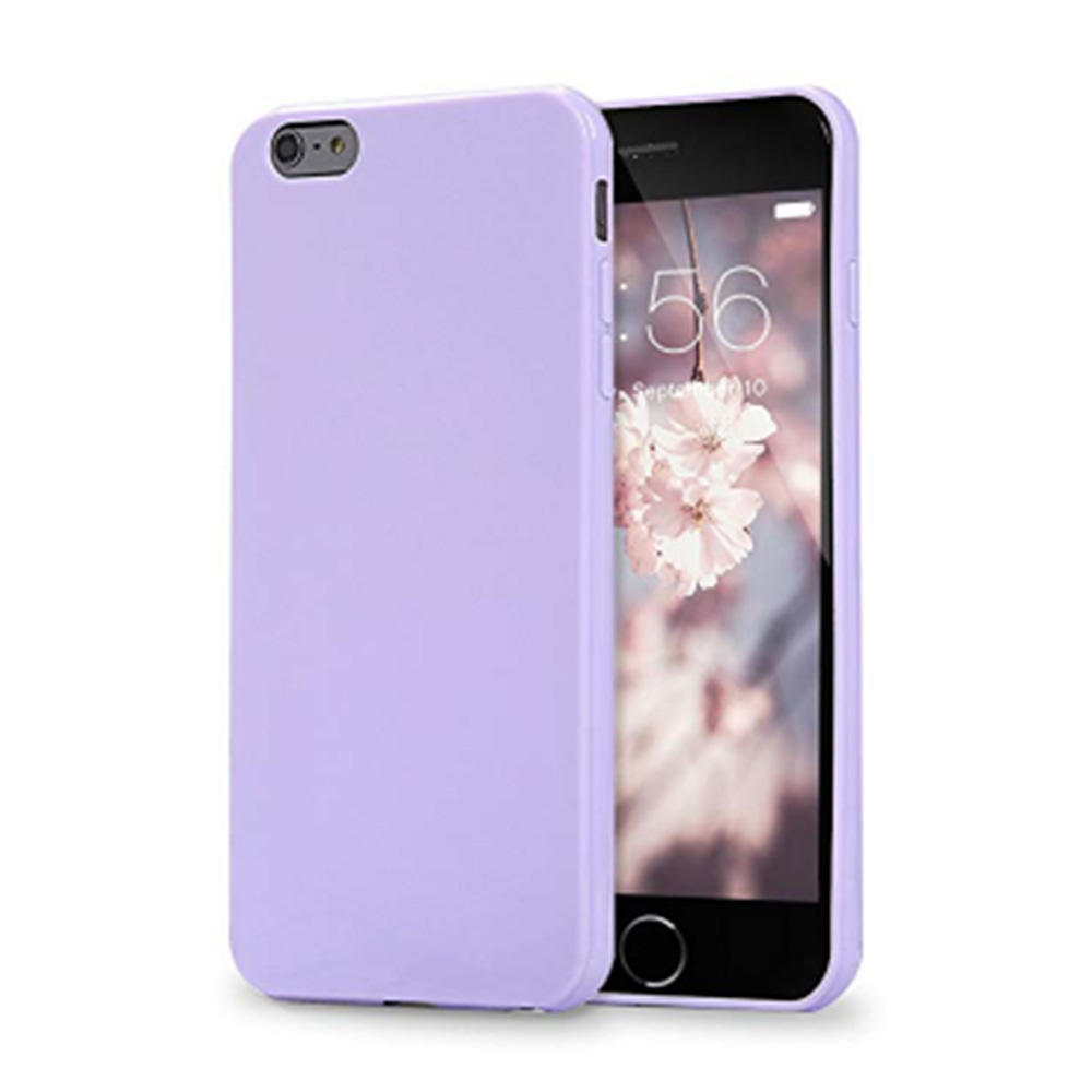 Solid colour soft TPU protective phone case for iPhone