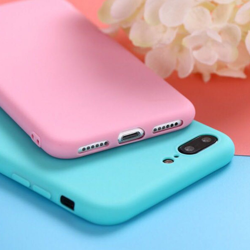 TenChen Tech-Solid Colour Soft Tpu Protective Phone Case For Iphone | Phone-3
