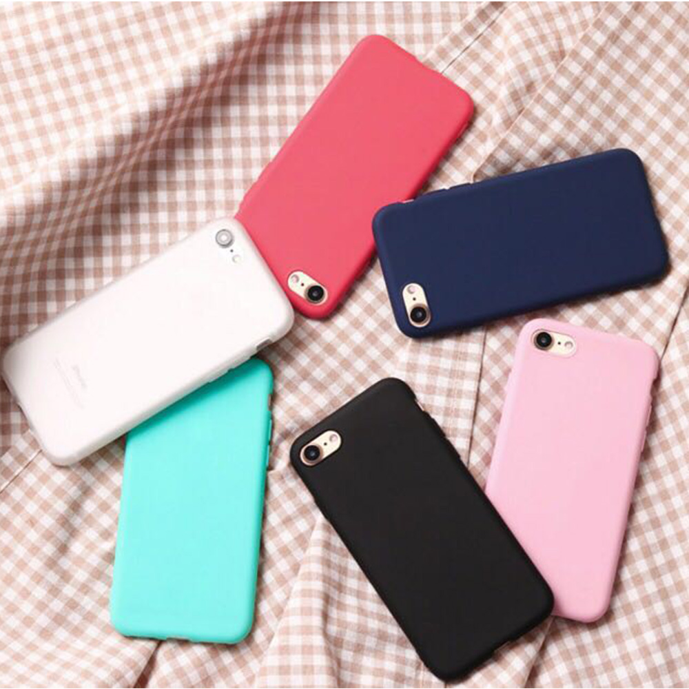 TenChen Tech-Solid Colour Soft Tpu Protective Phone Case For Iphone | Phone-8