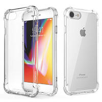 Transparent TPU protective phone cover with bumper