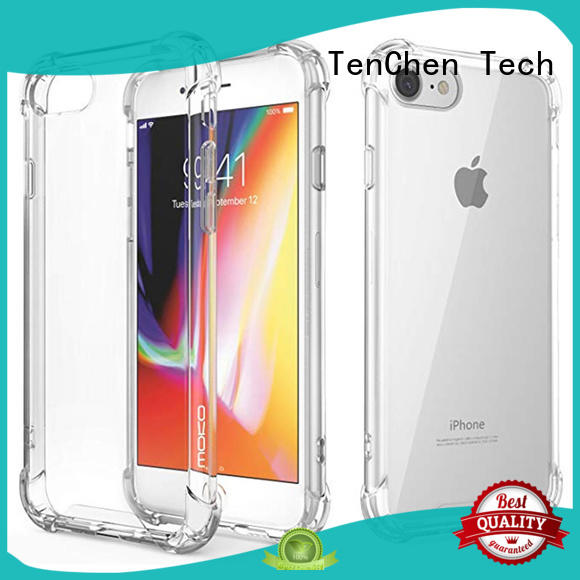 semitransparent clear protective iphone 6 plus case customized for store TenChen Tech