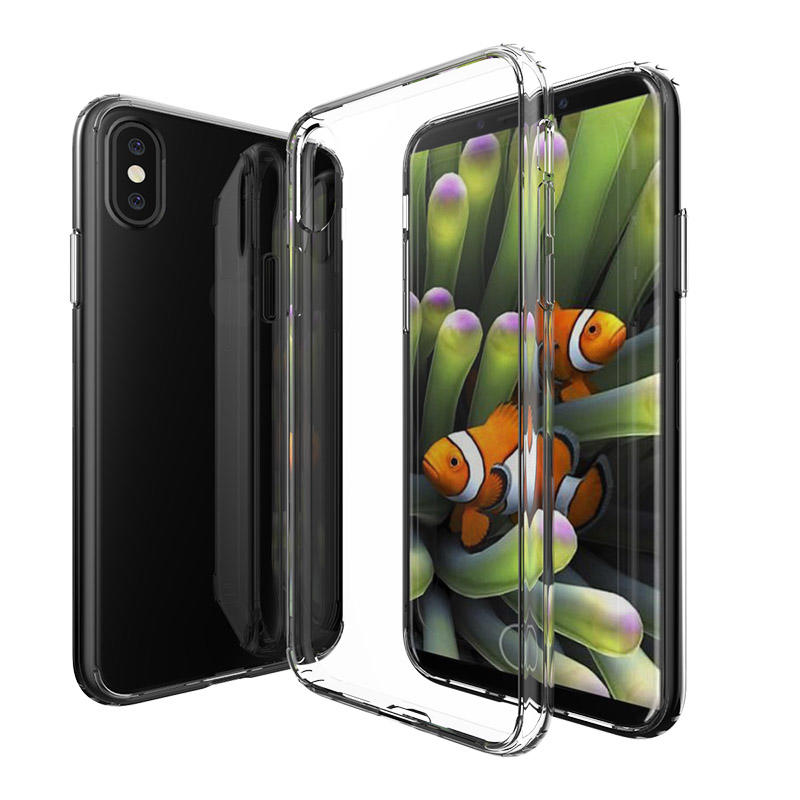 TenChen Tech-Best Cell Phone Case Store Transparent Pc Tpu Clear Case For Iphone X Pt0002