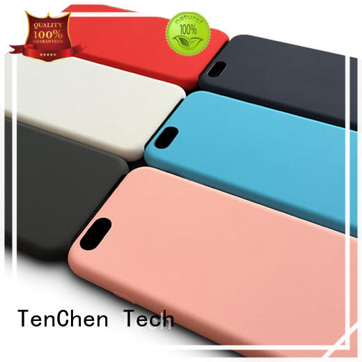soft iphone leather colour mobile phones covers and cases TenChen Tech Brand