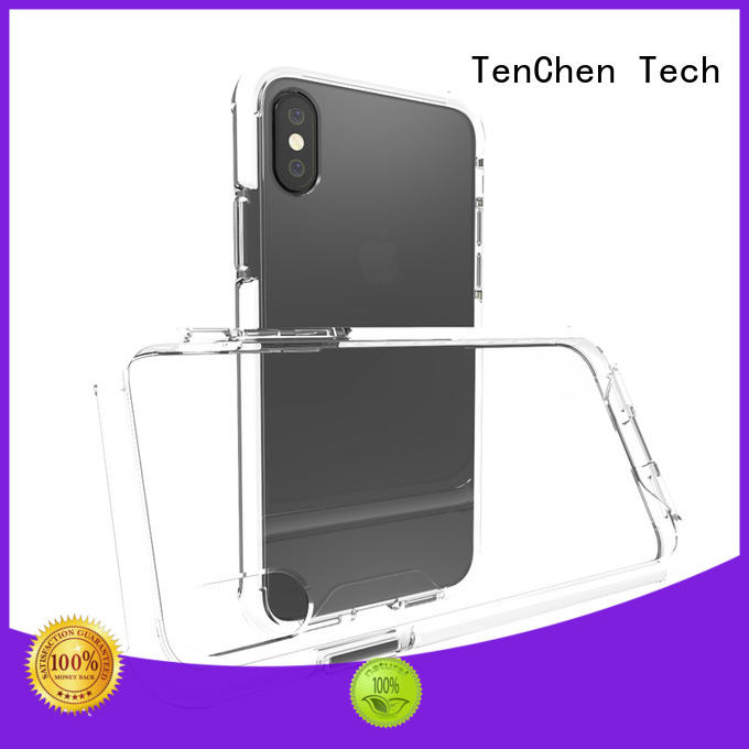 semitransparent phone case with bumper series for retail TenChen Tech