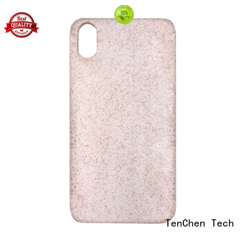 fiber ecofriendly real back mobile phones covers and cases TenChen Tech Brand