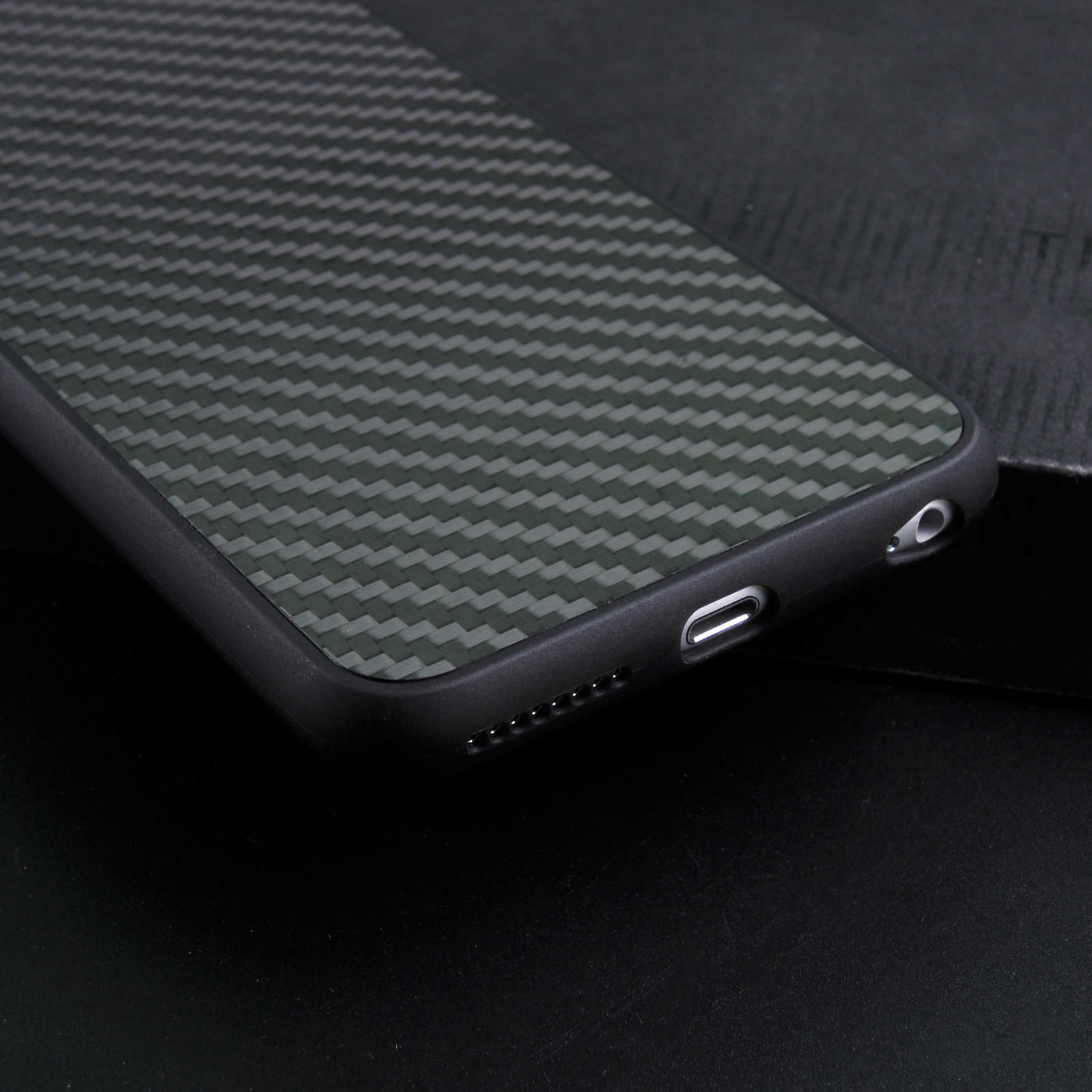 TenChen Tech-Luxury Black Real Carbon Fiber Case For Iphone Cb0001 | Samsung Phone Covers-2