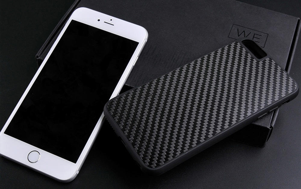 Luxury Black Real Carbon Fiber Case For Iphone CB0001-1