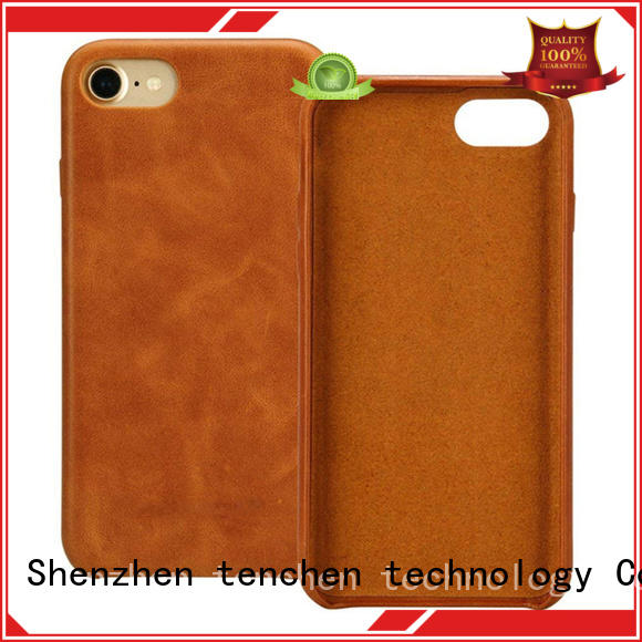 scratch resistant leather phone case from China for home