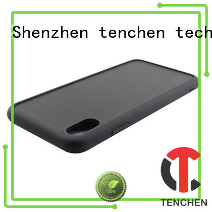 coloured leather fiber mobile phones covers and cases TenChen Tech Brand