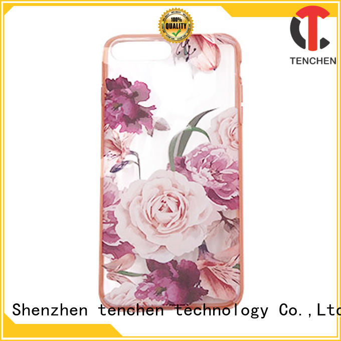 TenChen Tech color phone case with bumper design for retail