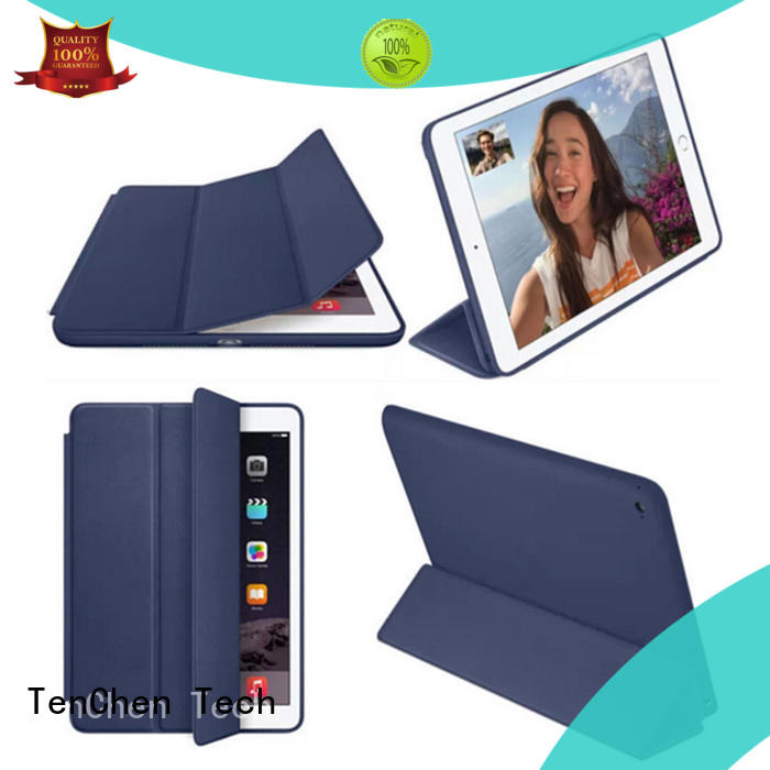 leather ipad hard cover case customized for store TenChen Tech