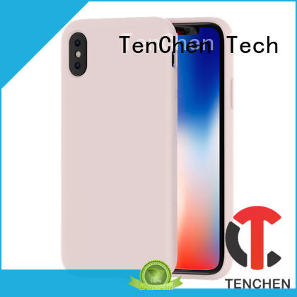 TenChen Tech bamboo fiber clean silicone phone case from China for shop