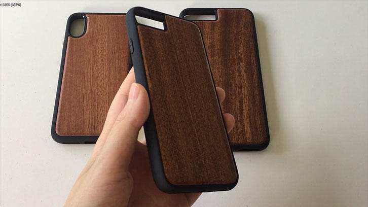 Phone case product display - wooden phone cover