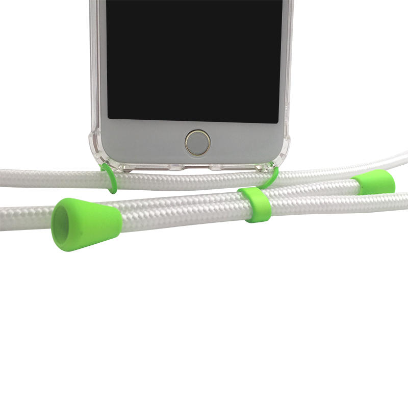 For iPhone models Necklace phone case with colored cord/ring