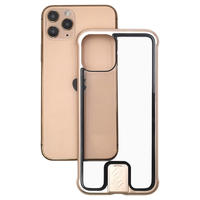 Anti scratch frameless metal glass mobile phone case