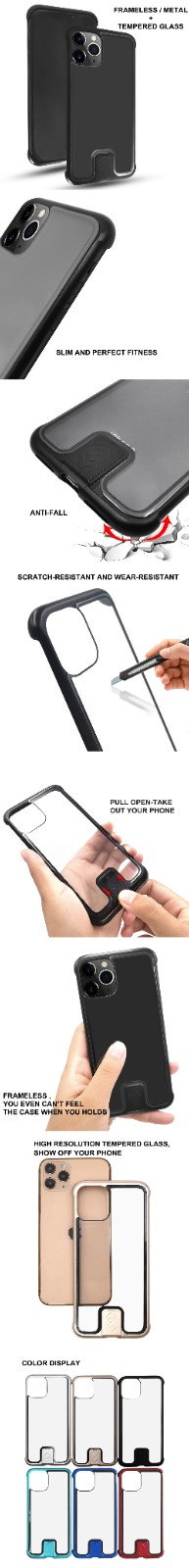 product-Anti scratch frameless metal glass mobile phone case-TenChen Tech-img