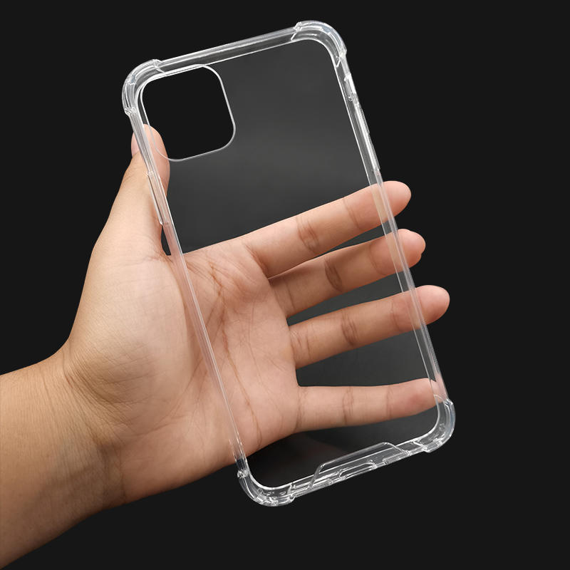 TENCHEN Antibacterial coating clear tpu pc mobile phone case