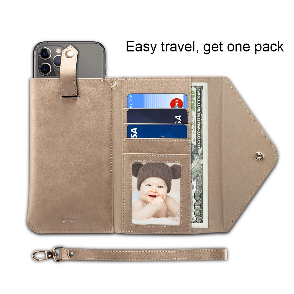High quality leather wallet purse phone case