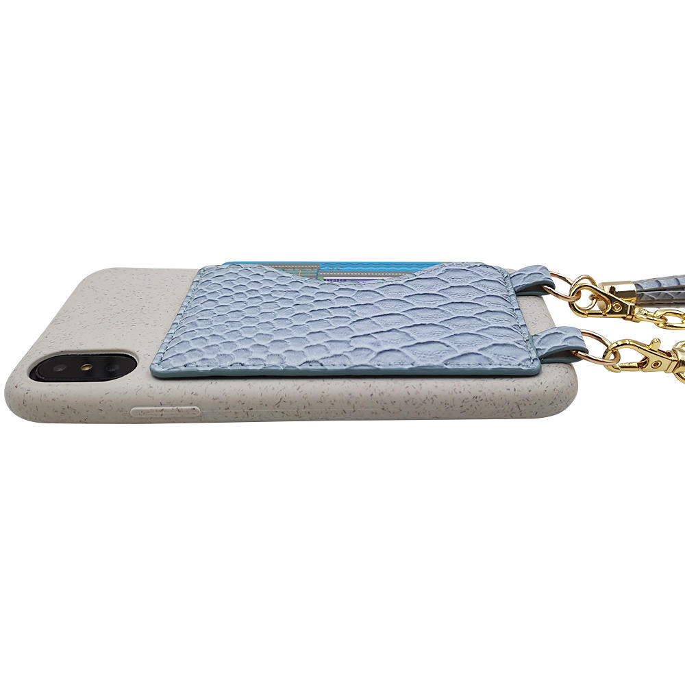 Eco friendly PLA bamboo fiber biodegradable phone case with card holder