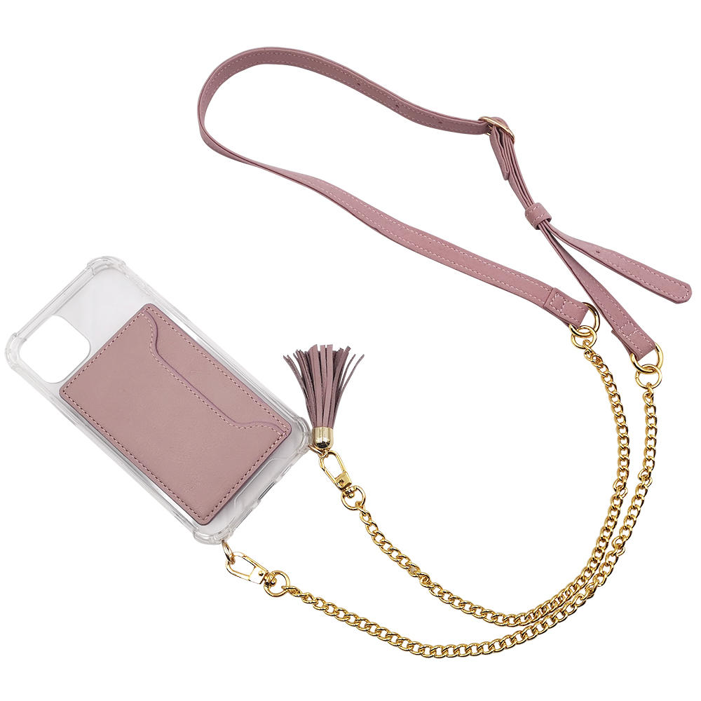 product-TENCHEN clear tpu pc crossbody phone case with leather card holder-TenChen Tech-img-1