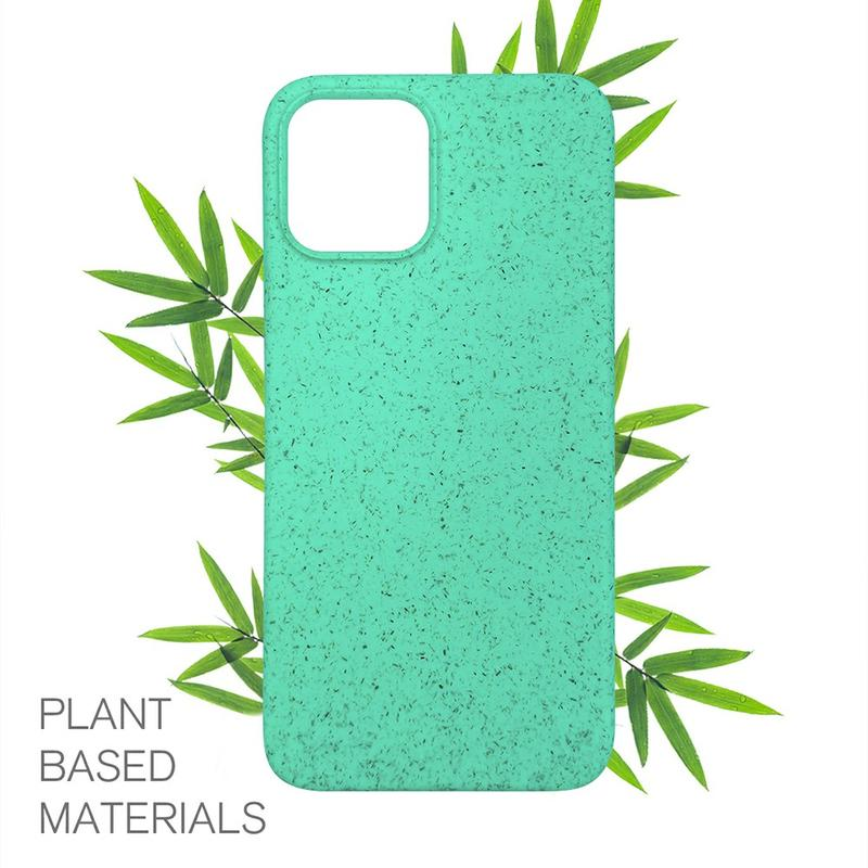 TENCHEN 100% Biodegradable bamboo fiber phone case,Eco-friendly flax straw phone back cover for iPhone Xs
