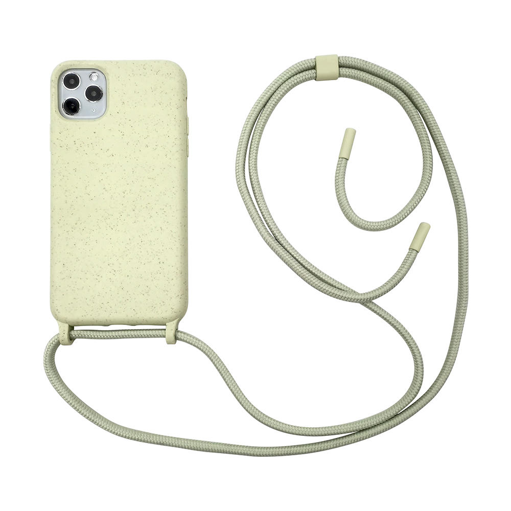 Eco friendly plant based material crossbody lanyard phone case