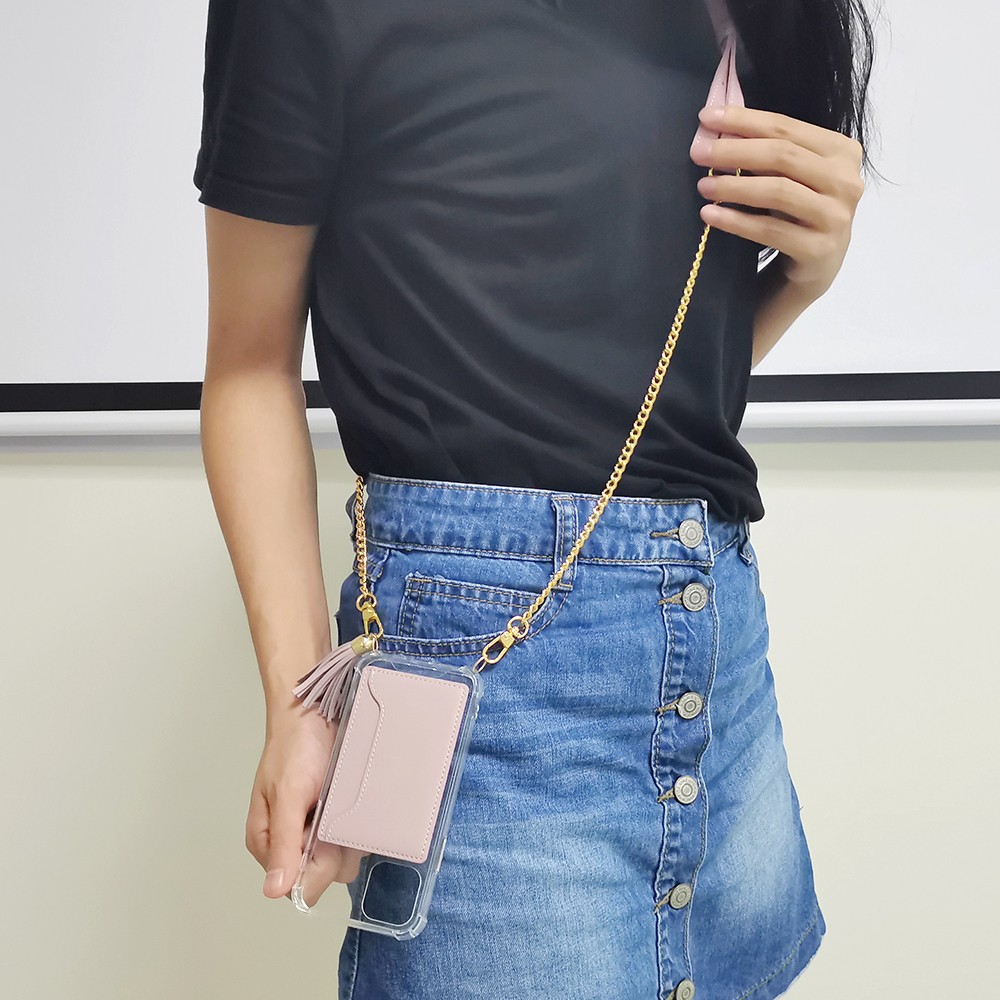 product-TENCHEN clear tpu pc crossbody phone case with leather card holder-TenChen Tech-img