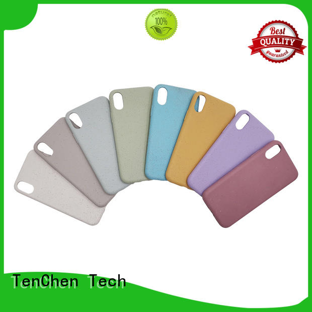 TenChen Tech scratch resistant brown leather phone case for shop