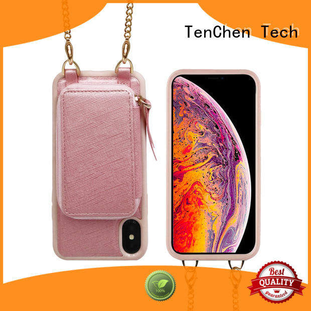 TenChen Tech hand strap cell phone case companies directly sale for retail