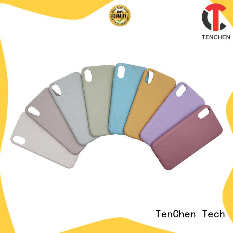 transparent popular cell phone cases design for shop TenChen Tech