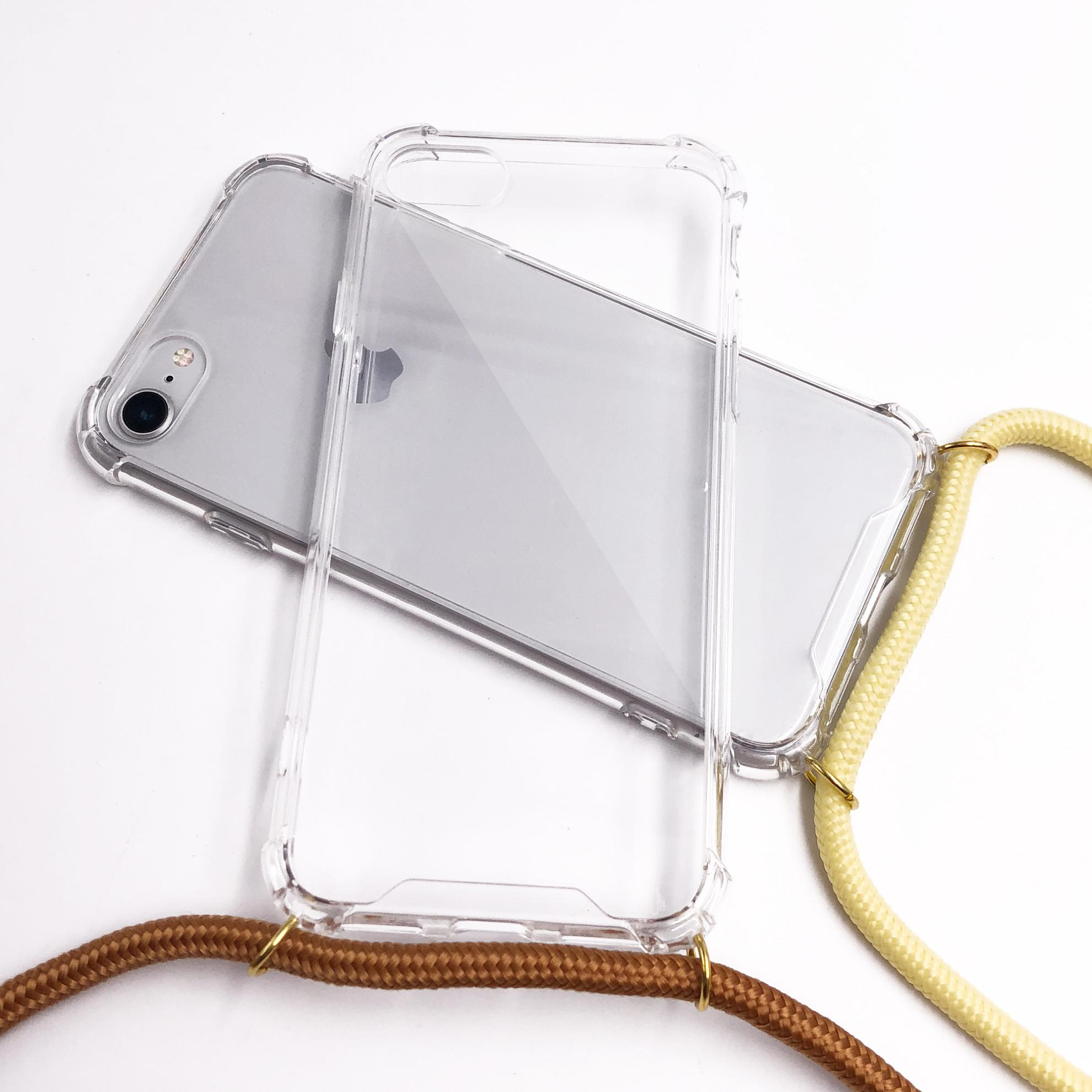 TenChen Tech Transparent TPU PC case with strap/lanyard for iPhone Phone Case image2
