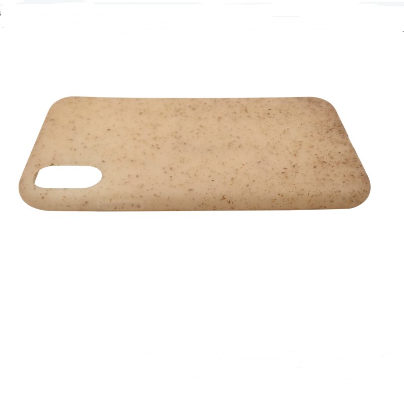 Semitransparent biodegradable PLA phone case,wheat straw soft case for iPhone