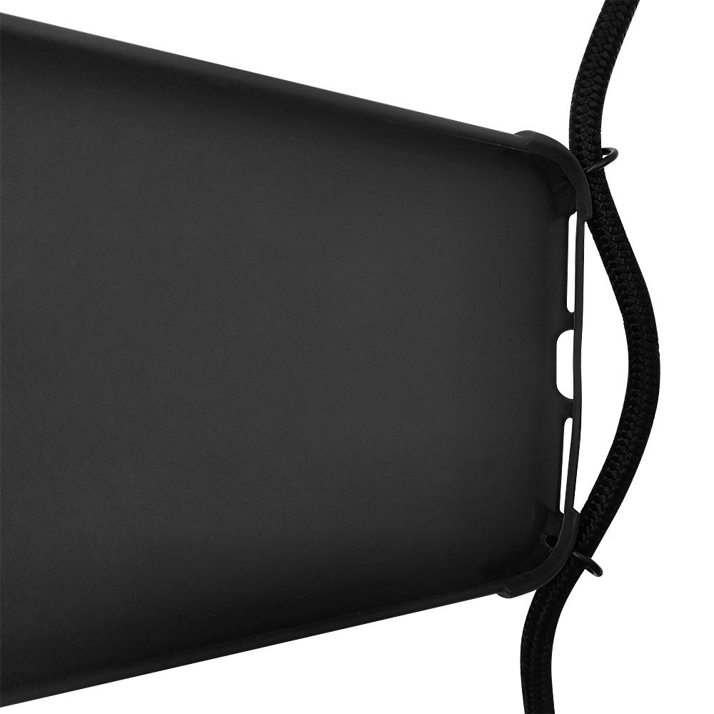 Matte silicone crossbody strap phone case for iPhone