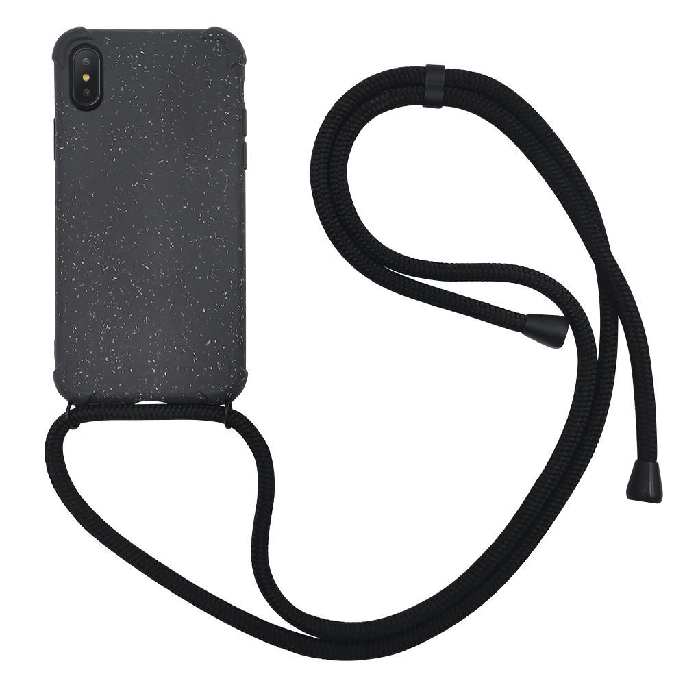 PLA wheat fiber biodegradable crossbody phone case