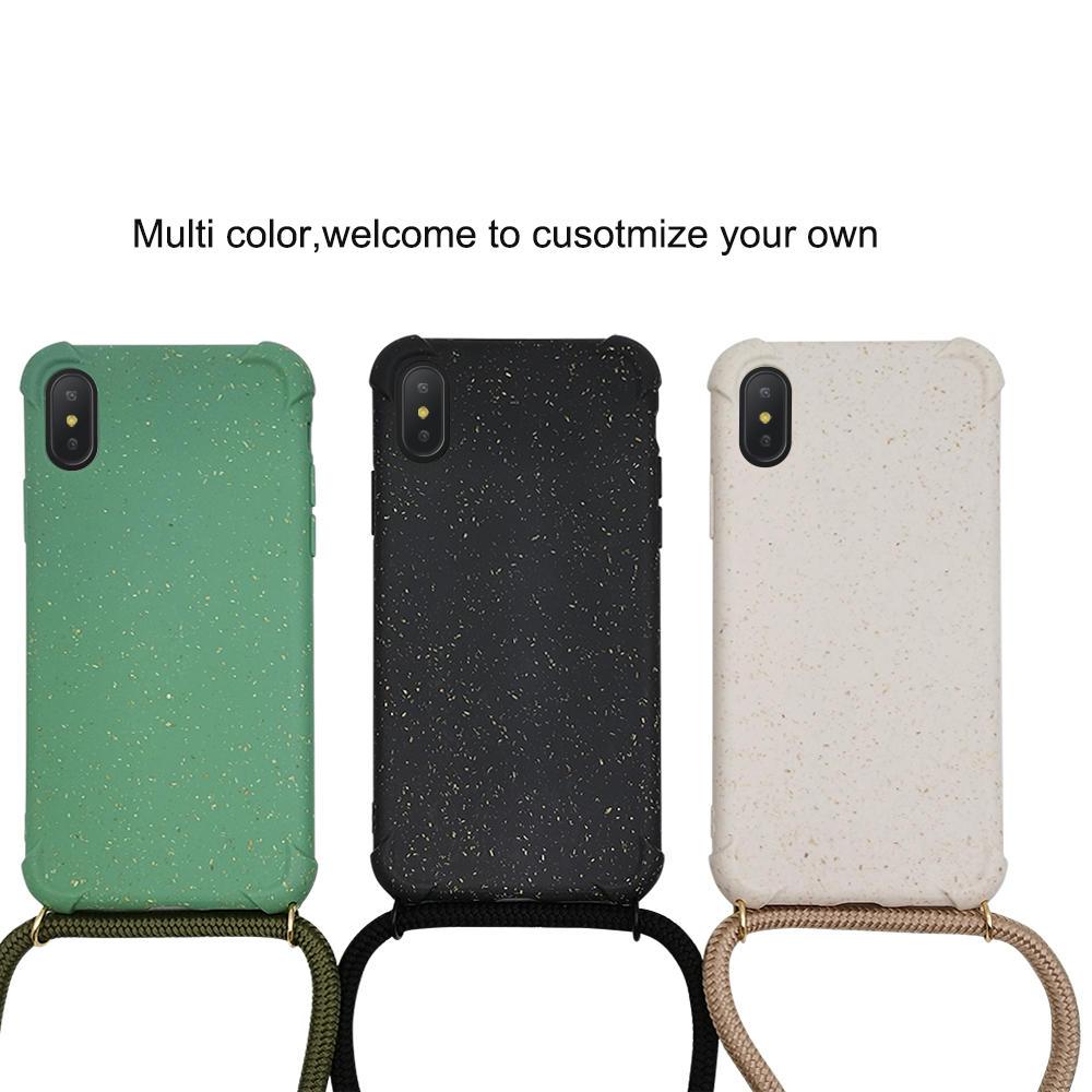 PLA wheat fiber biodegradable crossbody phone case