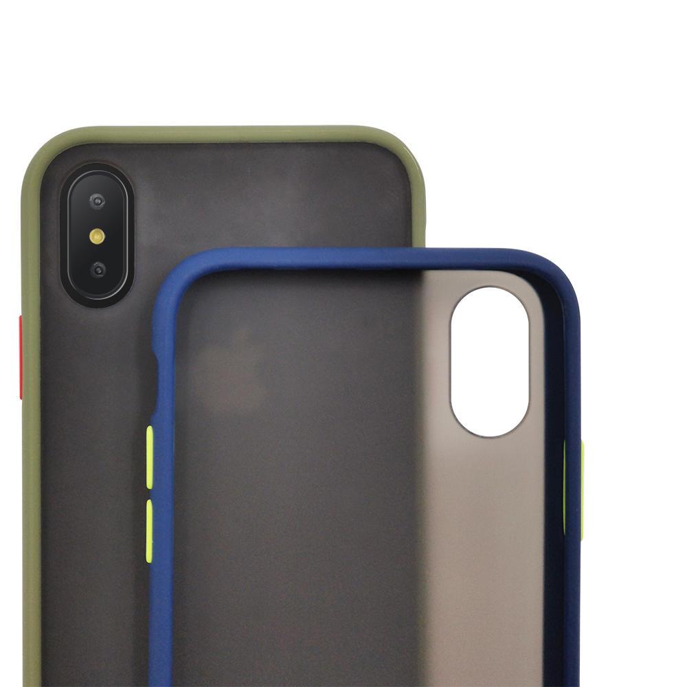 TENCHEN Matte TPU PC full protective mobile phone case