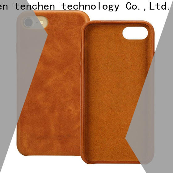 TenChen Tech luxury iphone leather case customized for commercial