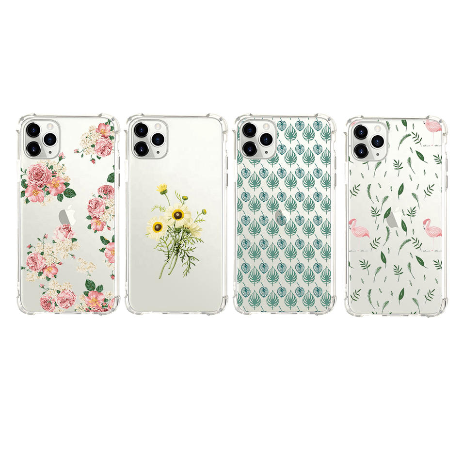 TENCHEN Clear tpu pc cell phone case with bumper