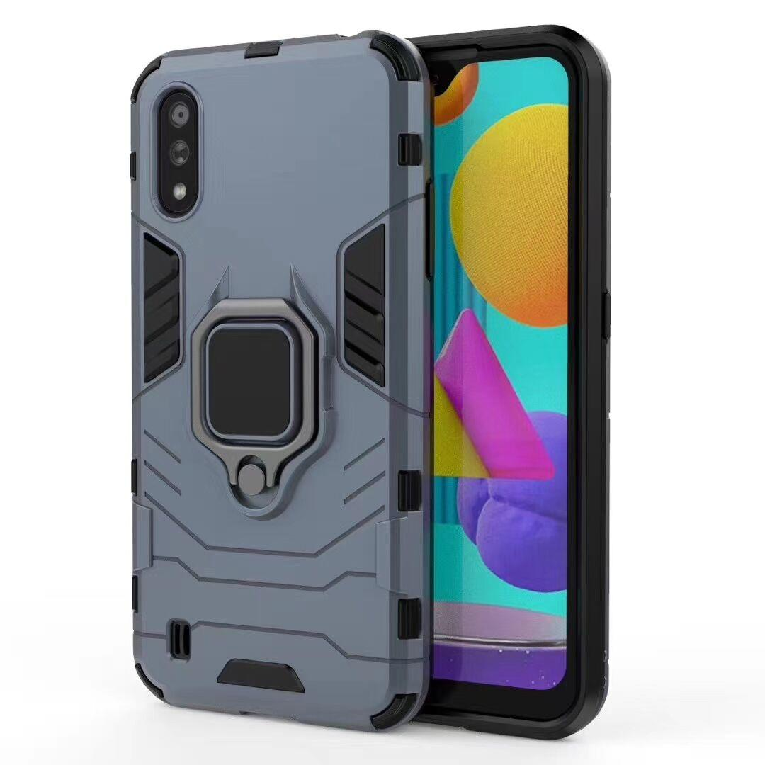 TENCHEN PC TPU armor shockproof phone case with finger ring & stander
