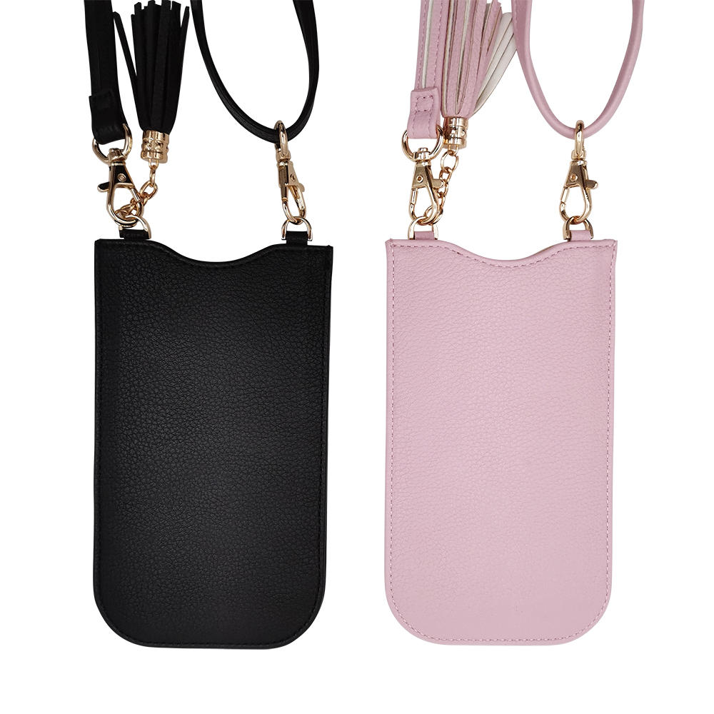 Pu&leather mobile phone bag with card slot/holder
