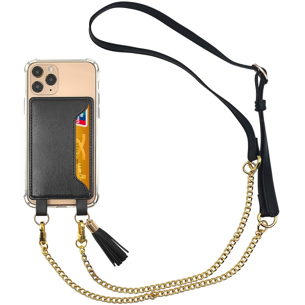 product-TenChen Tech-TENCHEN clear tpu pc crossbody phone case with leather card holder-img