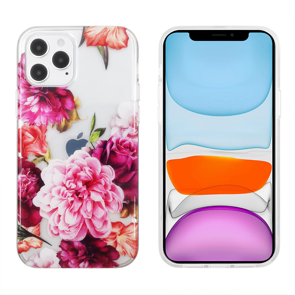 Pattern Clear Designed for iPhone 12 Case,Clear Case with Design,TPU Bumper with Protective Hard Case Cover