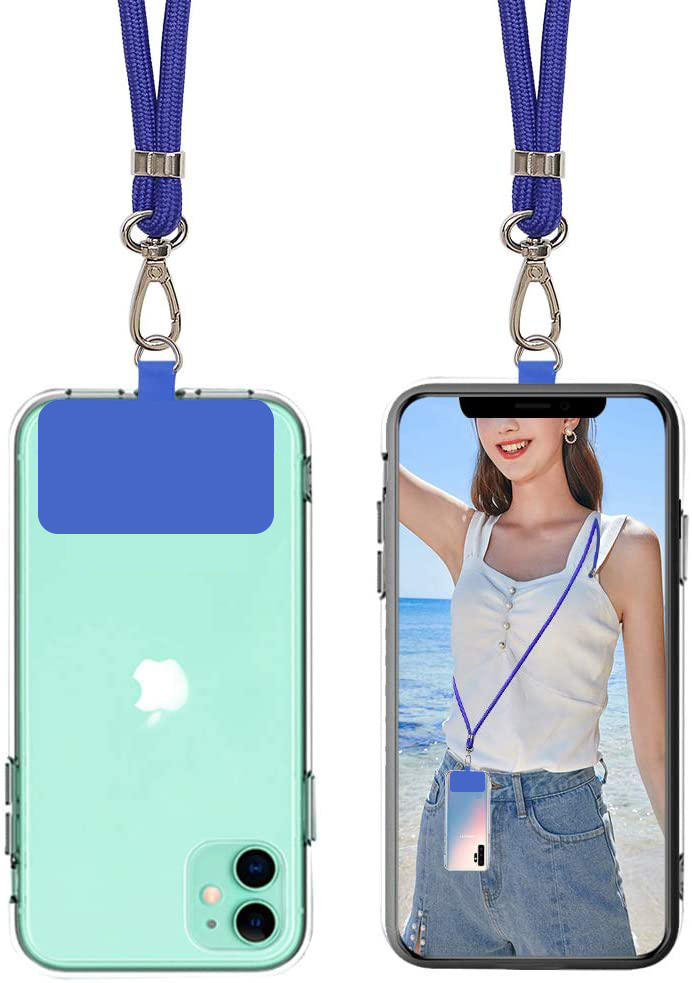 TENCHEN Adjustable Detachable Neck Strap with Phone Patch Phone Lanyard Compatible with Any Cell Phone Smartphones