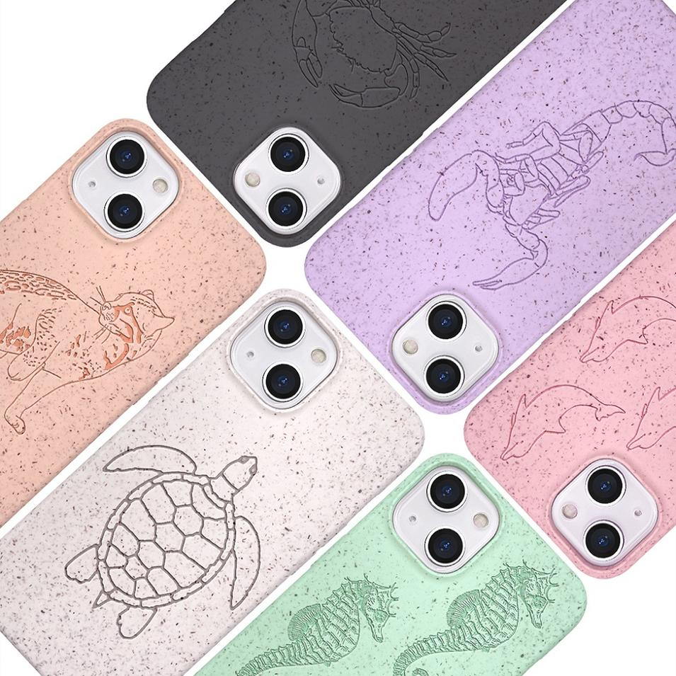 Customized Phone Case for iPhone 13 - 100% Compostable and Biodegradable Eco-Friendly Made from Plants From China
