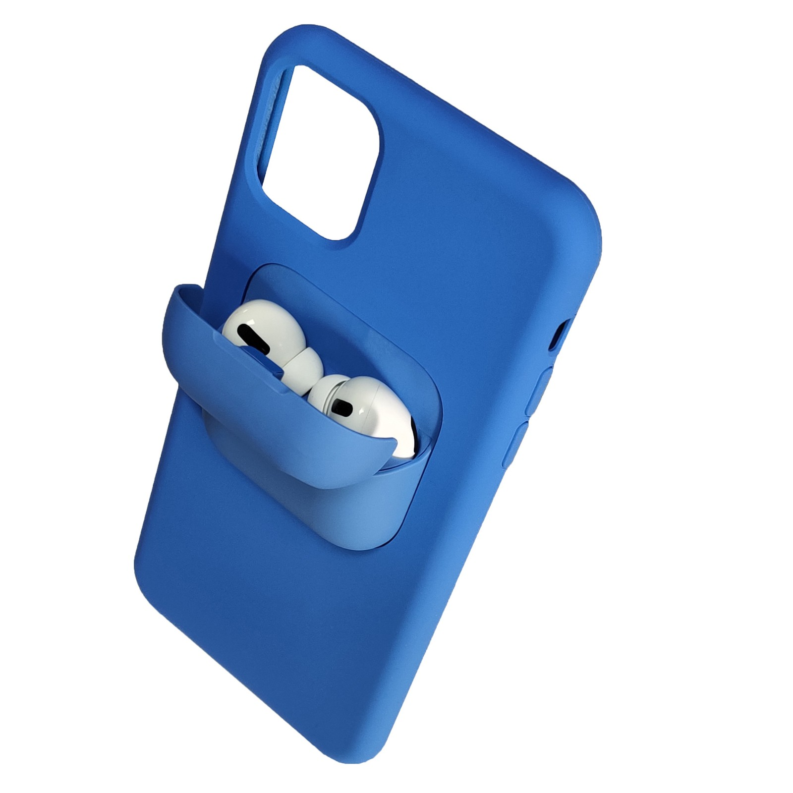 video-TENCHEN iPhone 12 Airpods Case Holder Slim Durable 2 in 1 Cover Designed for iPhone Protects