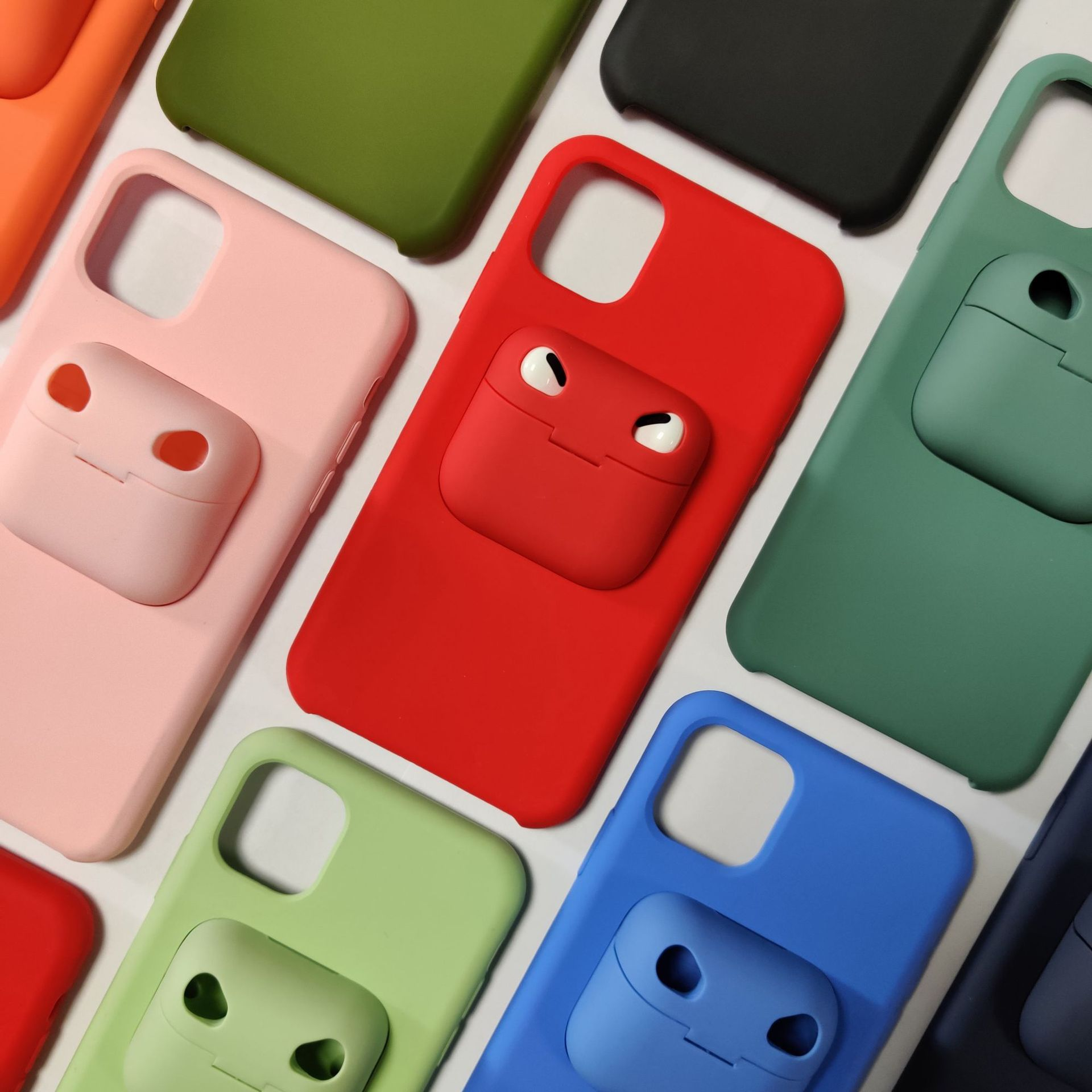 video-TENCHEN iPhone 12 Airpods Case Holder Slim Durable 2 in 1 Cover Designed for iPhone Protects -5
